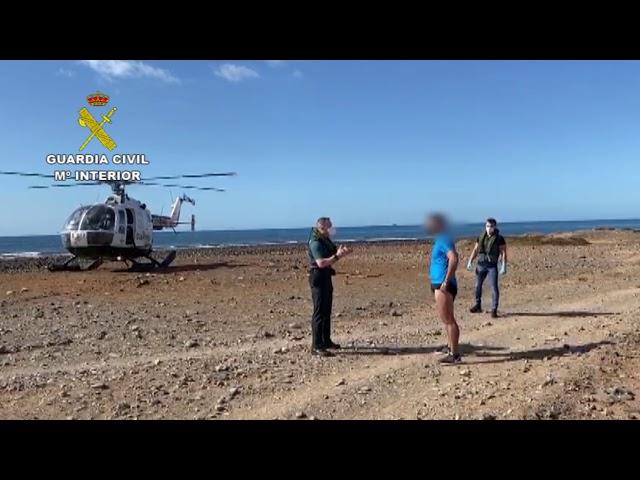 La Guardia Civil denuncia a seis personas que se disponían a hacer bodyboard en Gran Canaria