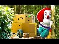 Hello Neighbor Clown Vs Box Fort Tank In Real Life! (Skit)