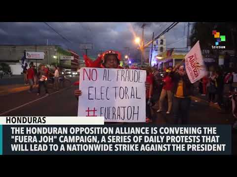 Honduran Opposition Alliance calls for nationwide protests
