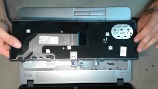 видео Обслуживание, ремонт и замена клавиатуры нетбука