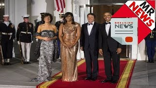 Michelle Obama   In Versace, Michelle Obama Sends a Powerful Message at Her Final State Dinner