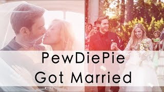 YouTube Star PewDiePie Marries His Girlfriend | Max News