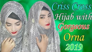 Criss Cross new hijab with orna tutorial Bangladesh || Hijab Style With NIQAB & Without NIQAB Video