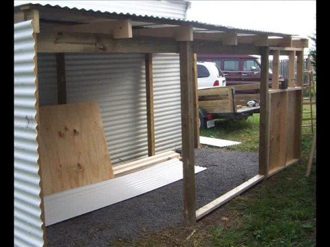 Building a Lean-to Shed - YouTube