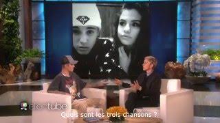 Justin Bieber parle de Selena Gomez chez Ellen VOSTFR (2015)