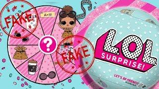 FAKE • LOL Surprise Confetti Pop • Chińska podróbka laleczek