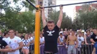 zwis mężczyzn na drążku na czas street workout poland championship rzeszw 2k14