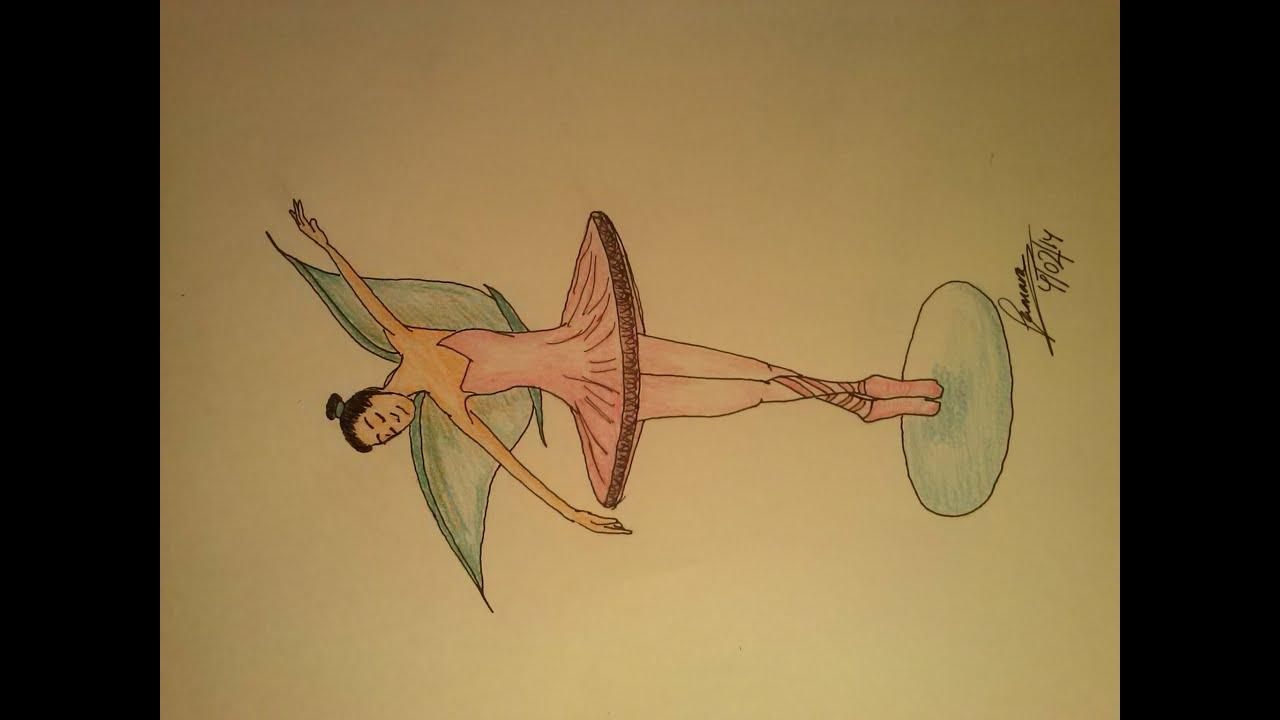 Cómo Dibujar Un Hada Bailarina De Ballet How To Draw A Fairy Ballet
