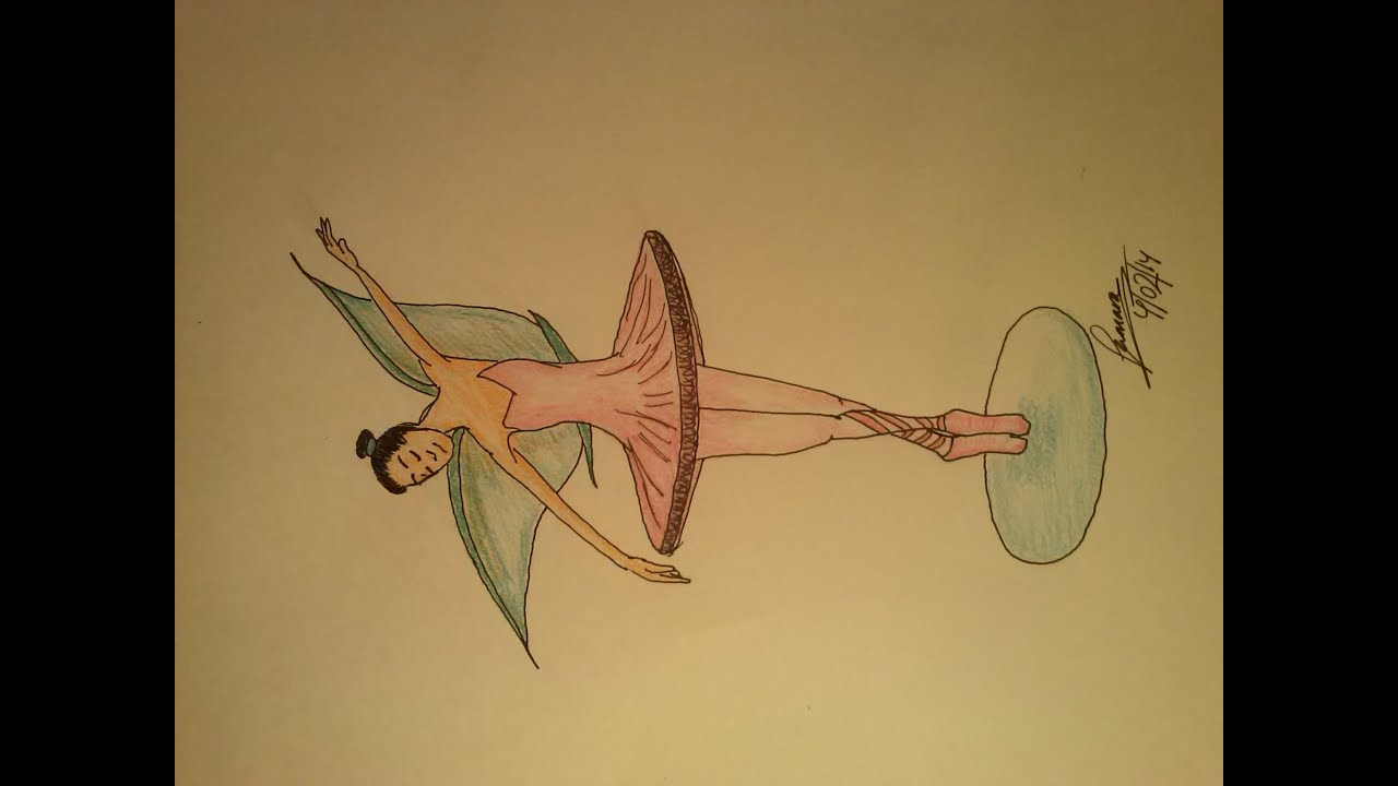 Cómo Dibujar Un Hada-bailarina De Ballet--How To Draw A