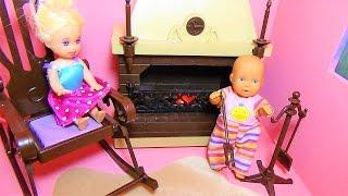 Мультик про кукол. Катя и Макс. Челлендж - отбери кресло у папы./Challenge - take a seat