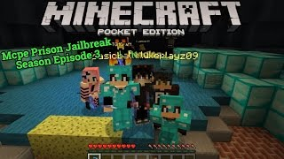 Minecraft Pocket Edition Prison Jailbreak Season 2 Episode 3: Hybrid PE!!! Ranking up to E Lel