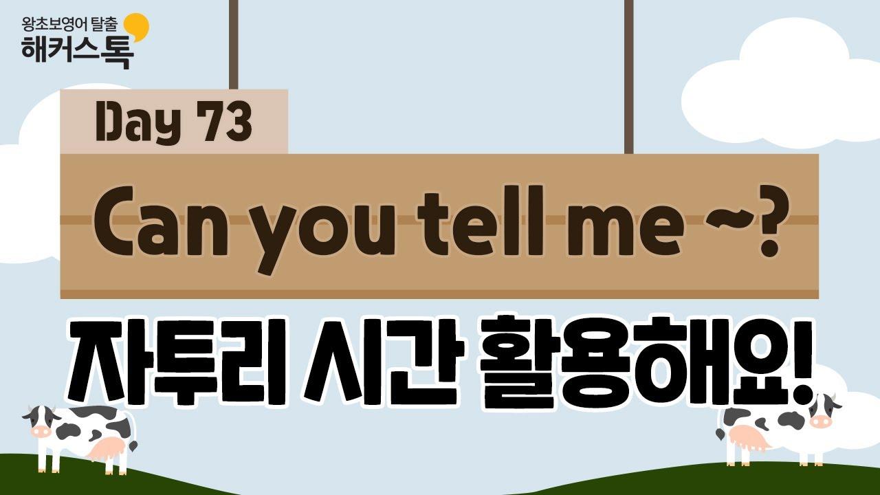 [영어회화] 새벽 영어 배달 🥛🌤 73탄 Can you tell me ~? | 영어듣기 영어단어 영어발음