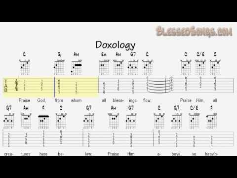 Learn Hymns on Guitar - Doxology - Tablature and Chords