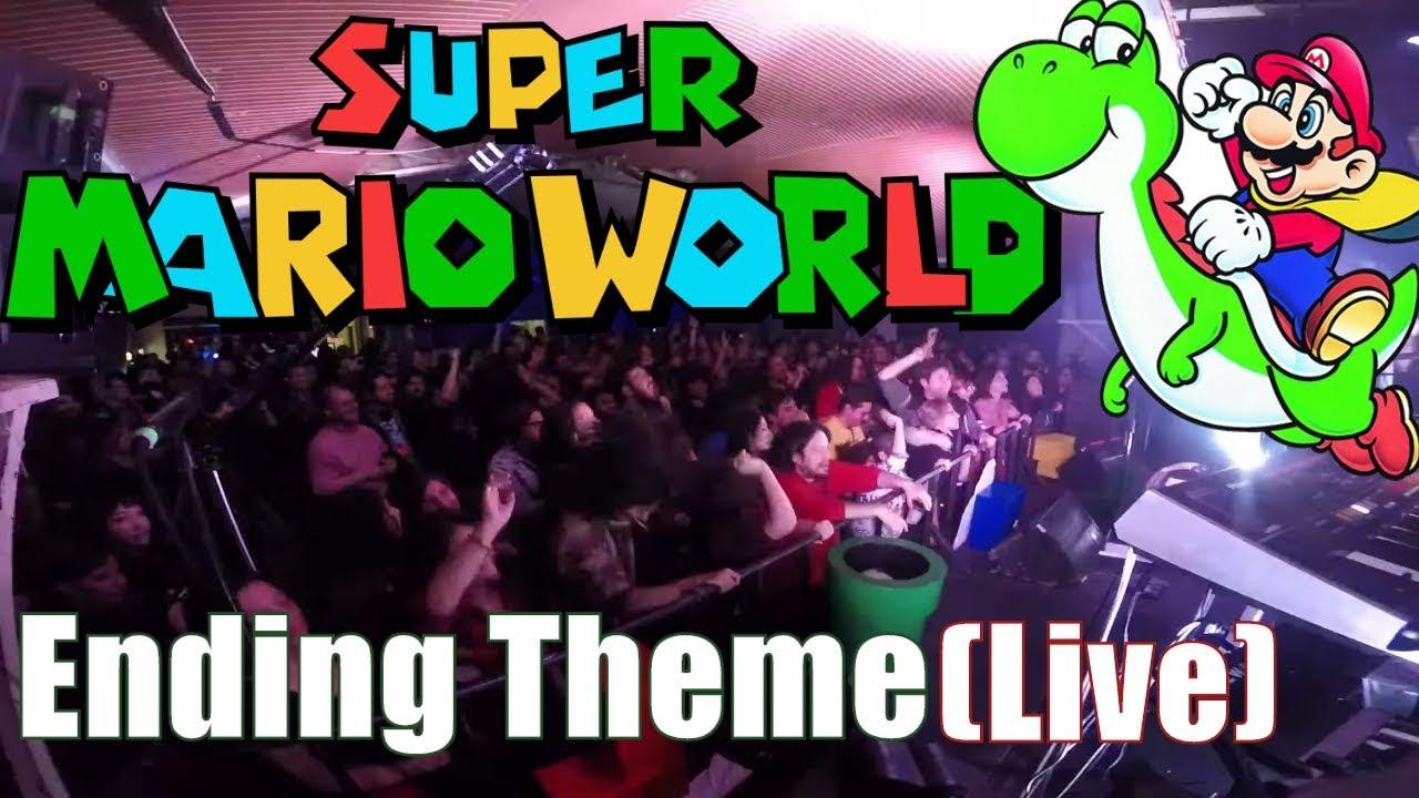 Mario Ending - Super Mario World Ft  Pokérus & Link Ludópata (Live At  Ñoñoparty 2) // Jazztick