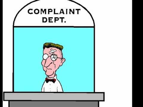 E)  Making a complaint