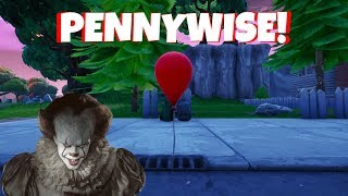 CREEPY PENNYWISE BALLOONS IN FORTNITE (IT CHAPTER 2)