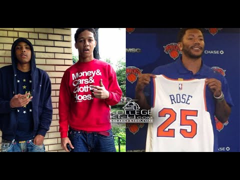 bfb384fe62d3 G Herbo and Lil Bibby React To Derrick Rose Wearing No. 25 For New York  Knicks