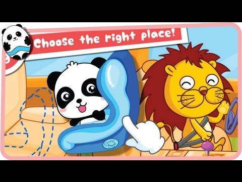 baby panda car safety babybus game for kids