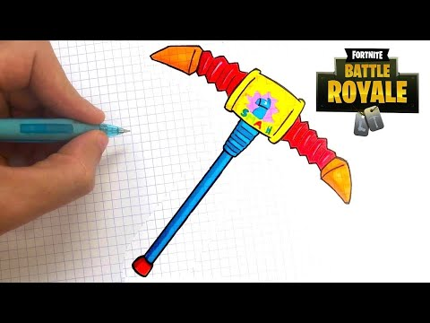 Je Dessine La Pioche Squash De Fortnite 8 Youtube
