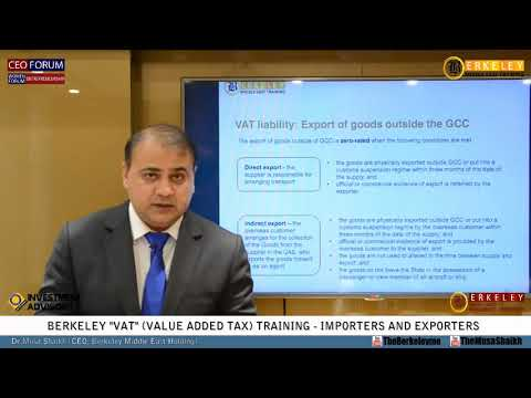 VAT Training | UAE Federal Law on Tax Procedures | Importers and Exporters