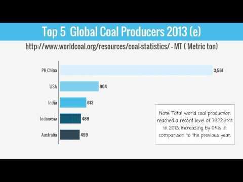 Top 5  Global Coal Producers 2013 (e)
