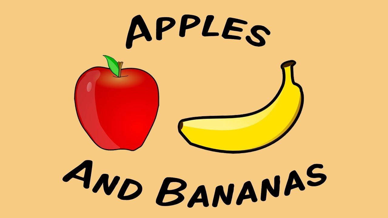Apples Bananas Craft Preschool