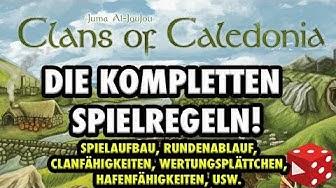 Clans of Caledonia - Die kompletten Spielregeln: Aufbau, Rundenablauf, Wertung, usw.