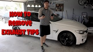 How to Remove BMW Exhaust Tips