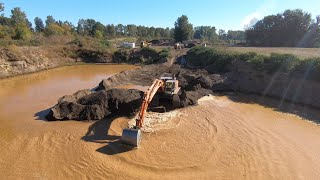 Mining river rock with a HUGE 52 ton excavator