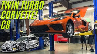WORLD'S FIRST TWIN TURBO C8 CORVETTE comes to life in TEXAS!