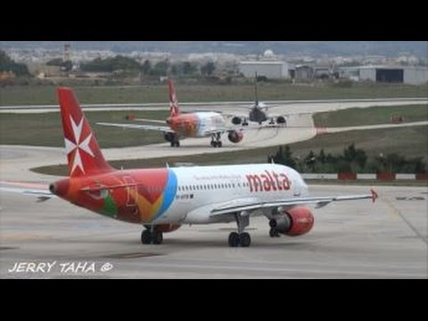 24 min of Plane Spotting @ Malta International Airport