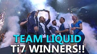Team Liquid After The Victory On The International 2017