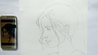 katrina kaif drawing | just drawing no shade