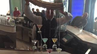 Martini Flight At Martini Bar On Celebrity Solstice