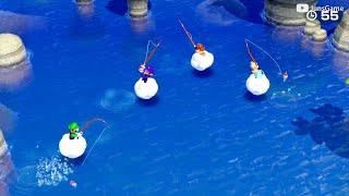 Super Mario Party - MiniGames – Waluigi vs Daisy vs Luigi vs Rosalina