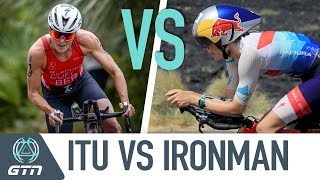 Ironman and Olympic distance triathlons have a few more differences...