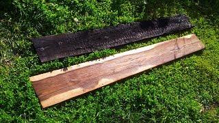 Защита дерева по японской технологии. Обжиг и браширование древесины