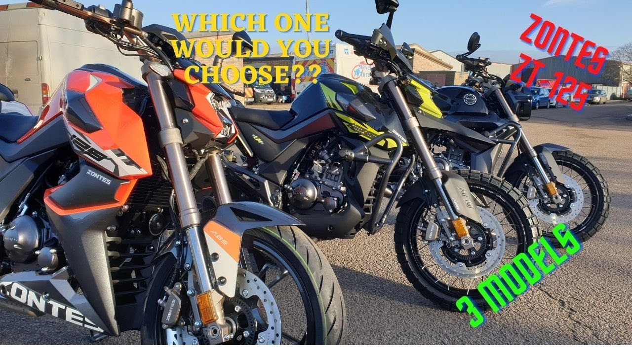 Stevelin Motorcycles have all 3 new Zontes Motorcycles