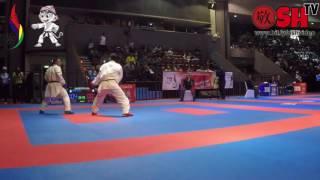 widodo vs pandi pada perebutan juara 3 kumite 84 kg putra pon xix jawa barat