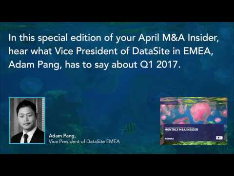 """Adam Pang gives a global M&A synopsis for the """"Monthly M&A Insider"""""""