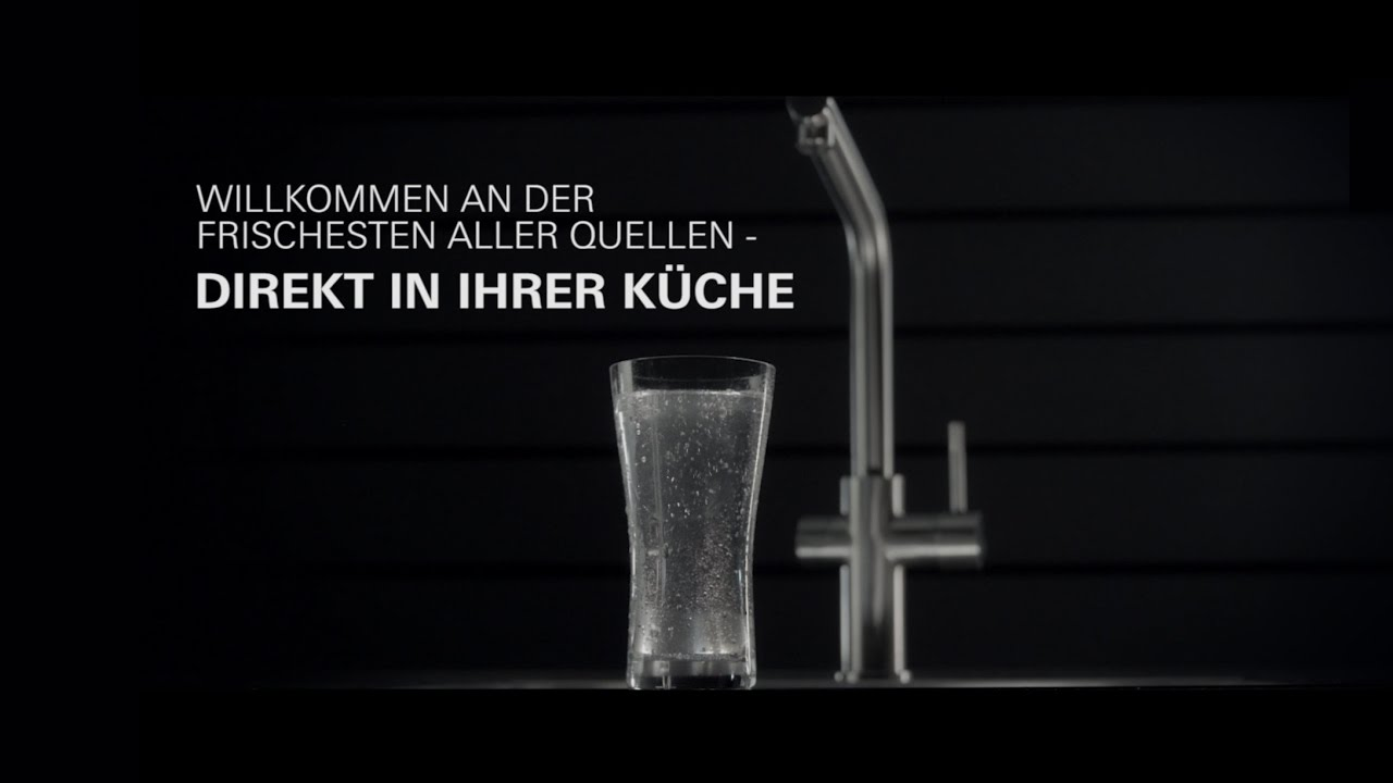 grohe blue home mineralwasser direkt aus dem wasserhahn youtube. Black Bedroom Furniture Sets. Home Design Ideas