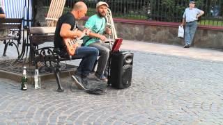 Ва-Банк)) Імпровізація на тему. Чернівці. Chernivtsi.Vabank.Вуличні музиканти 2015