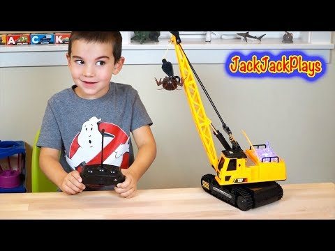 RC Crane Truck Unboxing, Playing, Toy Review, and Lifting Challenge