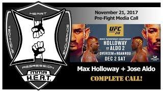UFC 218: Max Holloway vs Jose Aldo 2 Pre-Fight Media Call