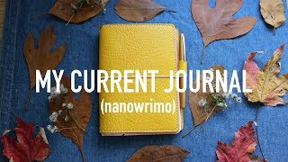 Current Journal Flip Through  (travelers notebook, baron fig, and nanowrimo!!)