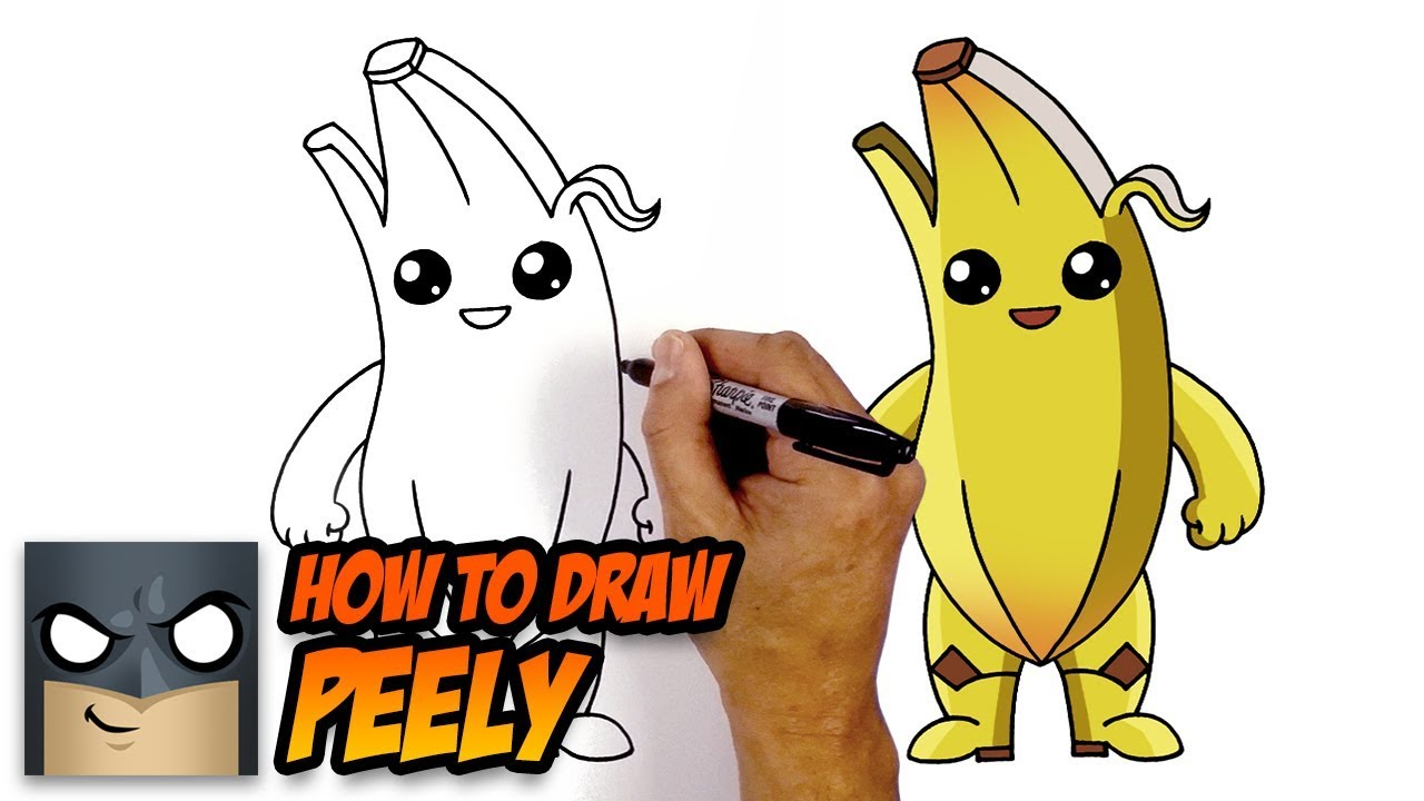 How to draw fortnite peely step by step