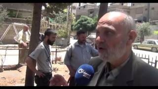 عربة الطاقة الشمسية ابتكار جديد لتأمين المياه للأهالي في الغوطة الشرقية