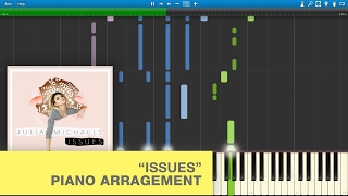 Video Julia Michaels - Issues (Piano Tutorial / Cover) with Lyrics download MP3, 3GP, MP4, WEBM, AVI, FLV November 2017