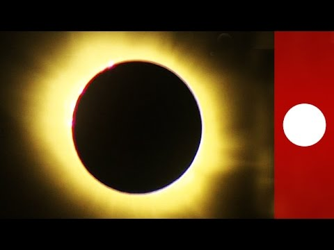 Stunning solar eclipse videos from across Europe