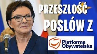 Przeszłość posłów z Platformy Obywatelskiej (część 2).